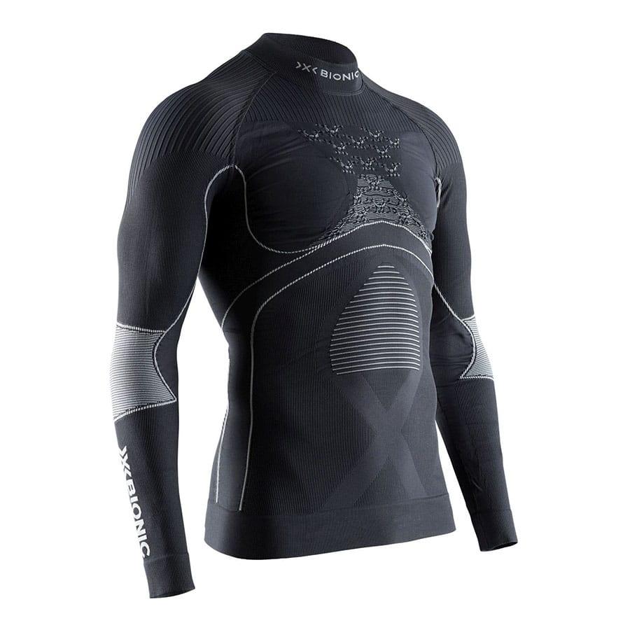 X-Bionic - tričko T Energy Accumulator 4.0 shirt Turtle Neck LG SL Men charcoal/pearl grey Velikost: XL