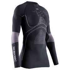 X-Bionic - tričko T ENERGY ACCUMULATOR 4.0 SHIRT ROUND NECK LG SL charcoal/magnolia Velikost: M