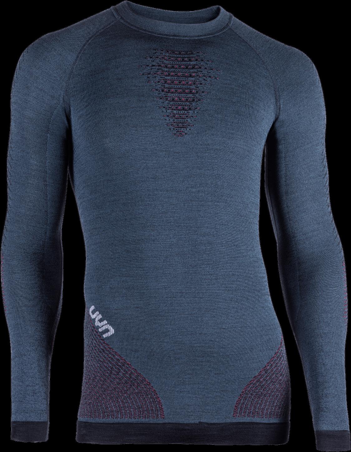 UYN - tričko T FUSYON UW SHIRT LG_SL. orion blue/bordeaux/pearl grey Velikost: S/M
