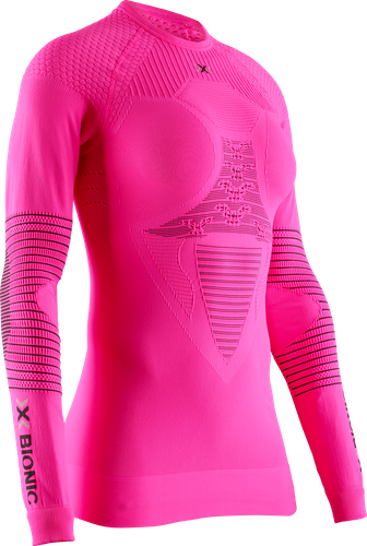 X-Bionic - tričko T S Energizer 4.0 Shirt round neck LG neon flamingo/anthracite Velikost: S