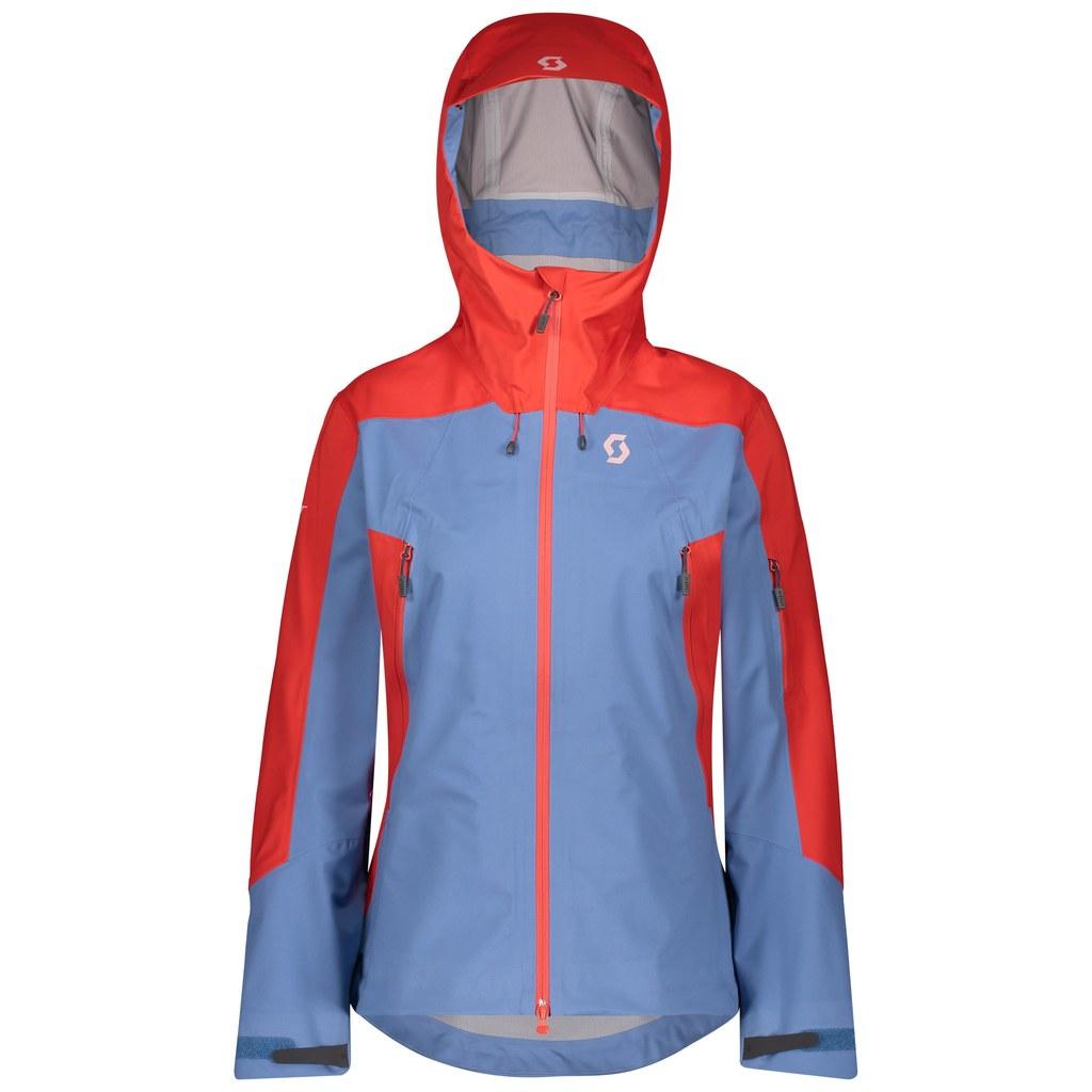 Scott - bundy Z Jacket W's Explorair 3L grenadine orange-riverside blue Velikost: L