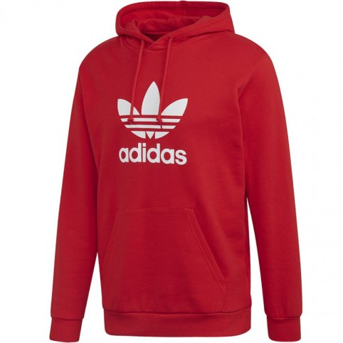 Adidas mikina TREFOIL HOODIE red Velikost: L