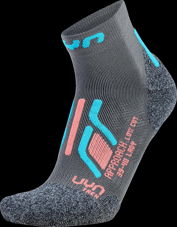 UYN ponožky T LADY TREKKING APPROACH LOW CUT SOCKS grey/turqoise Velikost: 35-36