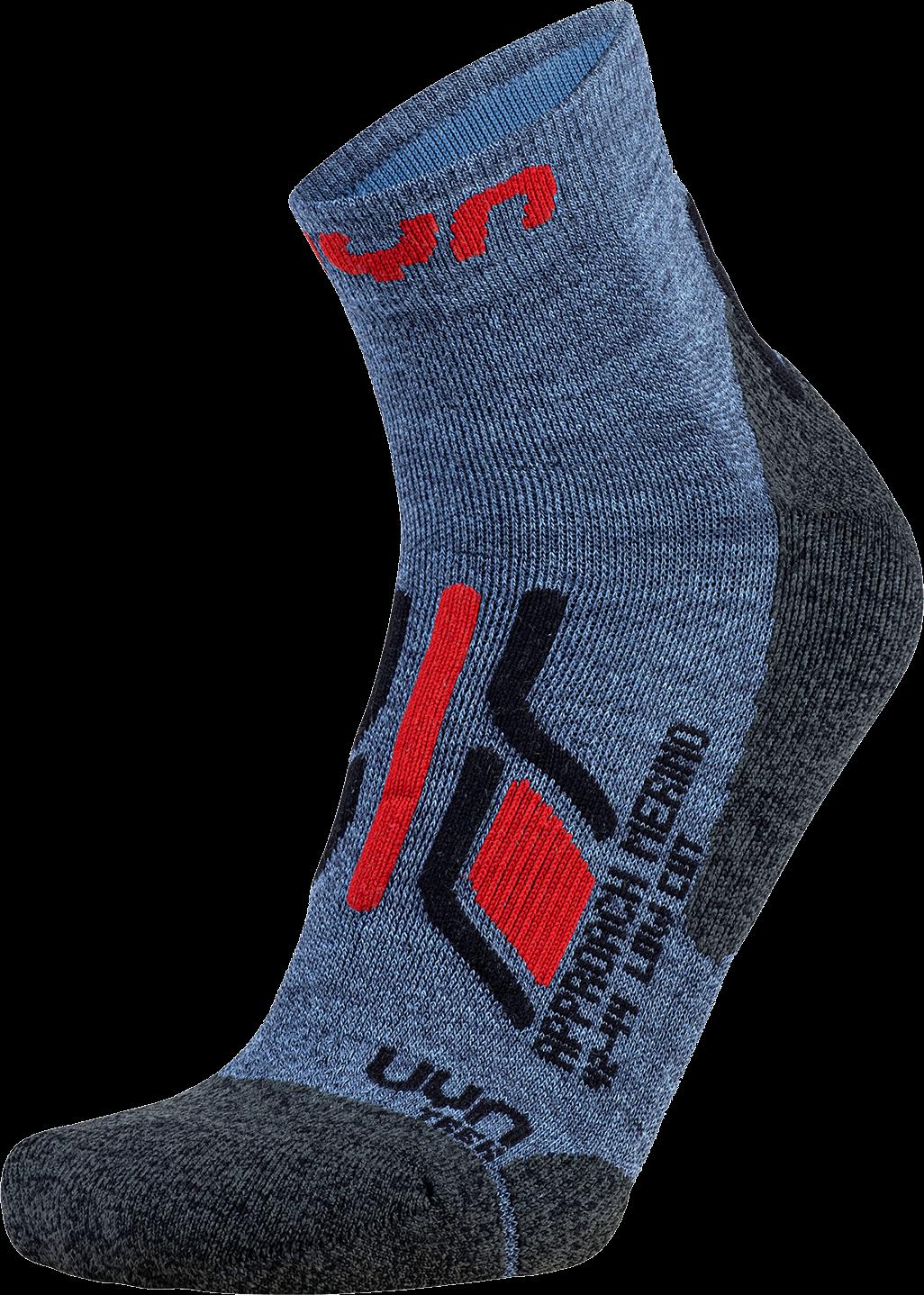 UYN ponožky T MAN TREKKING APPROACH MERINO LOW CUT SOCKS jeans/anthracite/red Velikost: 45-47