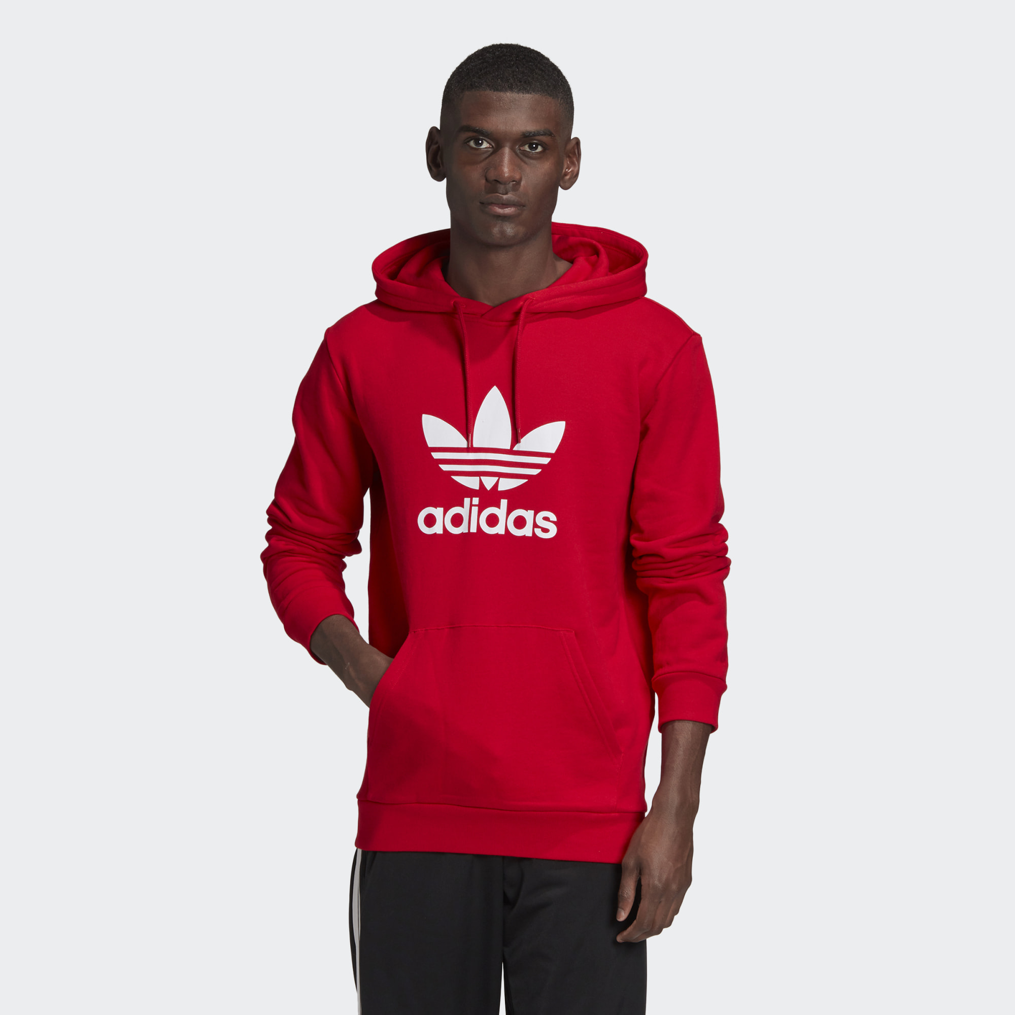 Adidas mikina Originals Trefoil Hoodie red Velikost: L