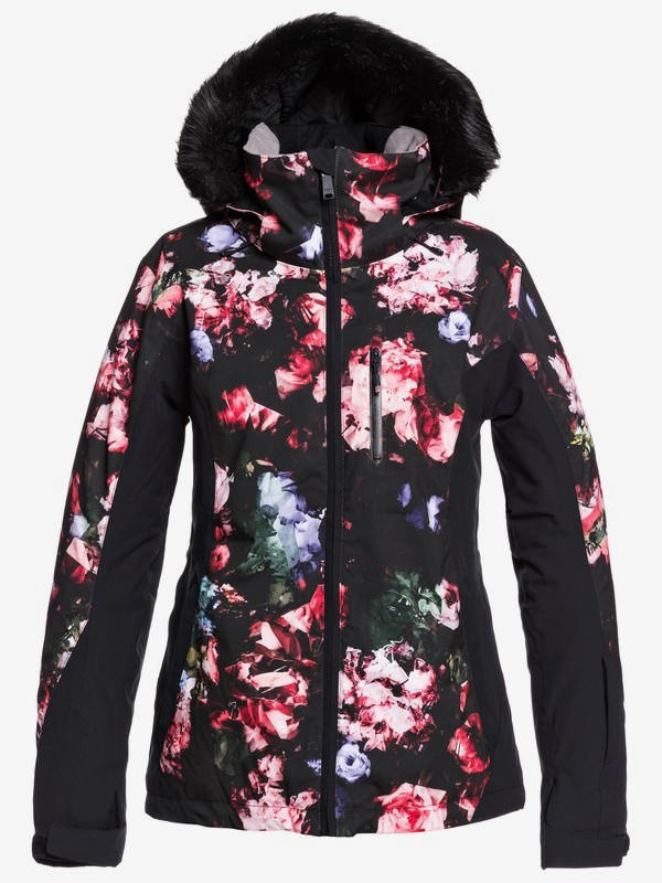 Roxy bunda Z Jet Ski Premium black blooming Velikost: M