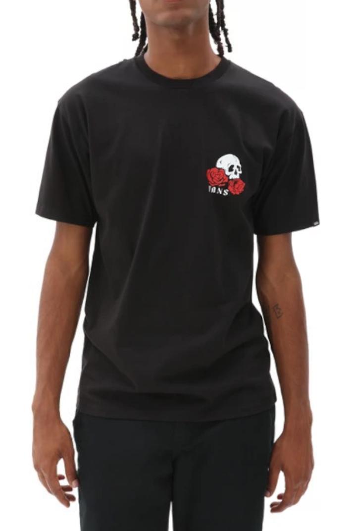 Vans tričko Rose Bed SS black Velikost: L