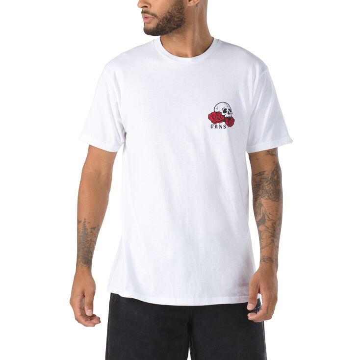 Vans tričko Rose Bed SS white Velikost: XL