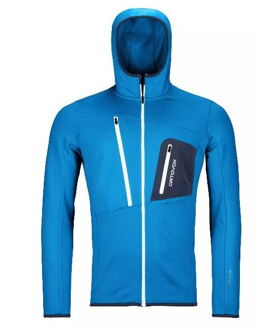 Ortovox mikina Fleece Grid Hoody M safety blue Velikost: L