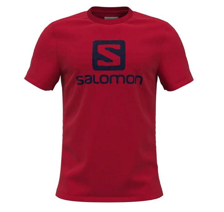 Salomon tričko Outlife Logo SS Tee red Velikost: L