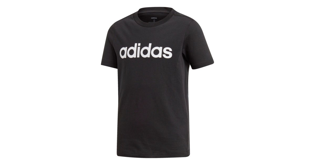 Adidas tričko Yb E Lin Tee black Velikost: 140