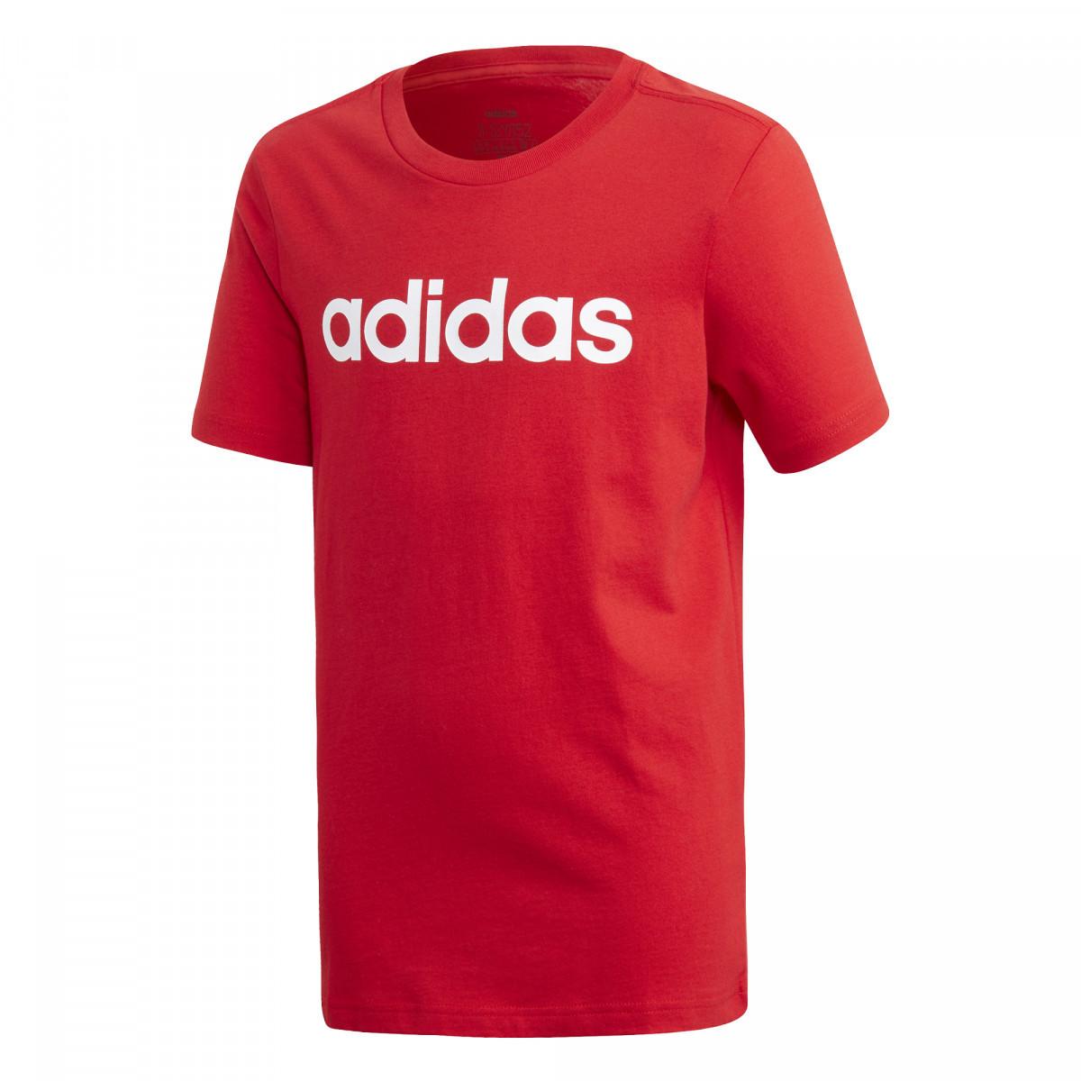 Adidas tričko Yb E Lin Tee red Velikost: 152