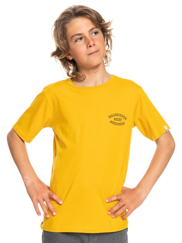Quiksilver tričko Wild Card SS YTH nugget gold Velikost: 12