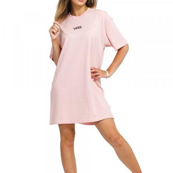 Vans šaty Center Vee Tee Dress pink Velikost: S