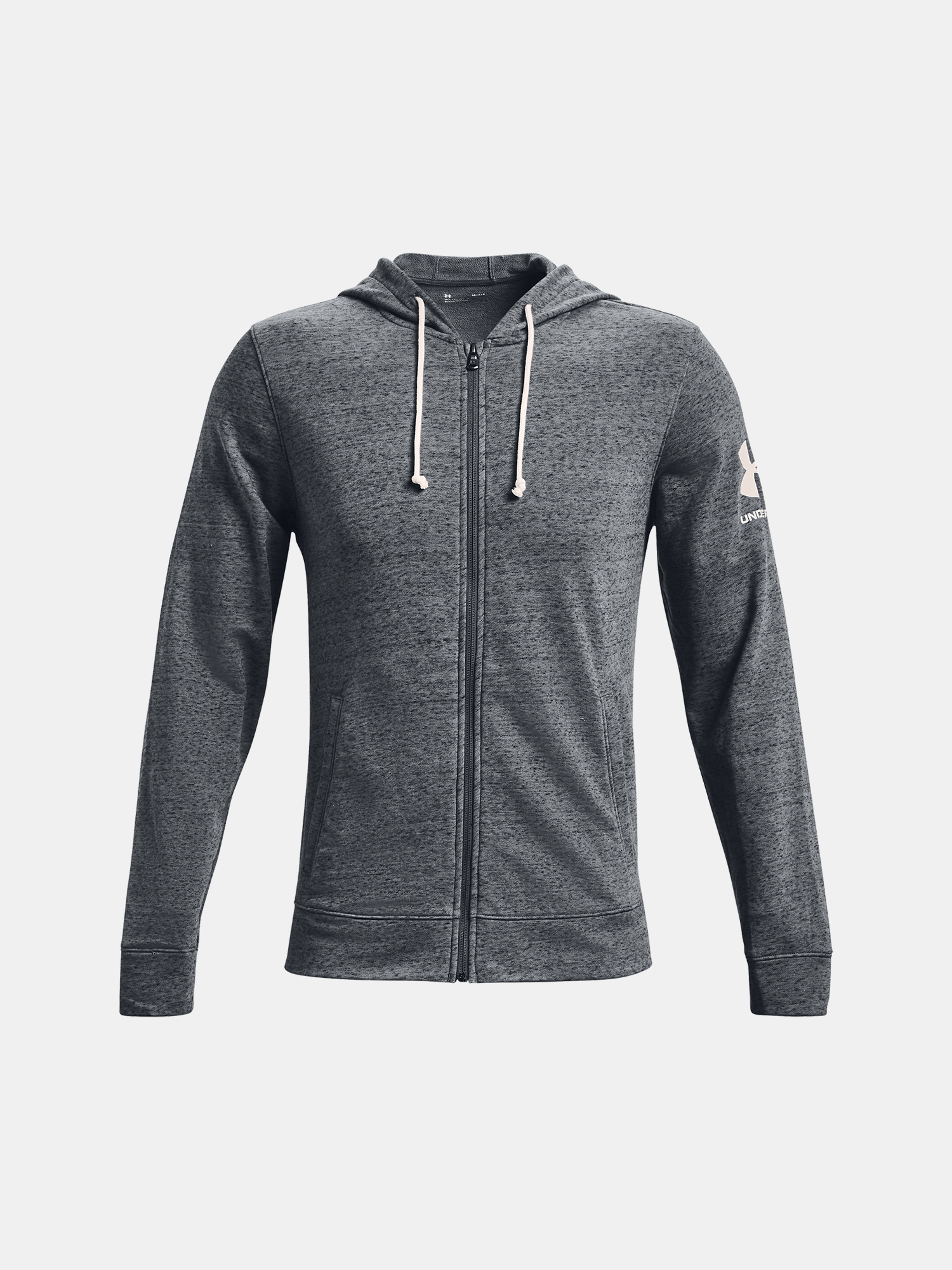 Under Armour mikina Rival Terry Fz Hd gry Velikost: XXL