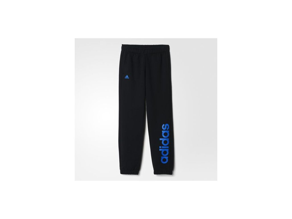 ADIDAS - tepláky YB ESS LIN BRPC      black/blue (Velikost 140)