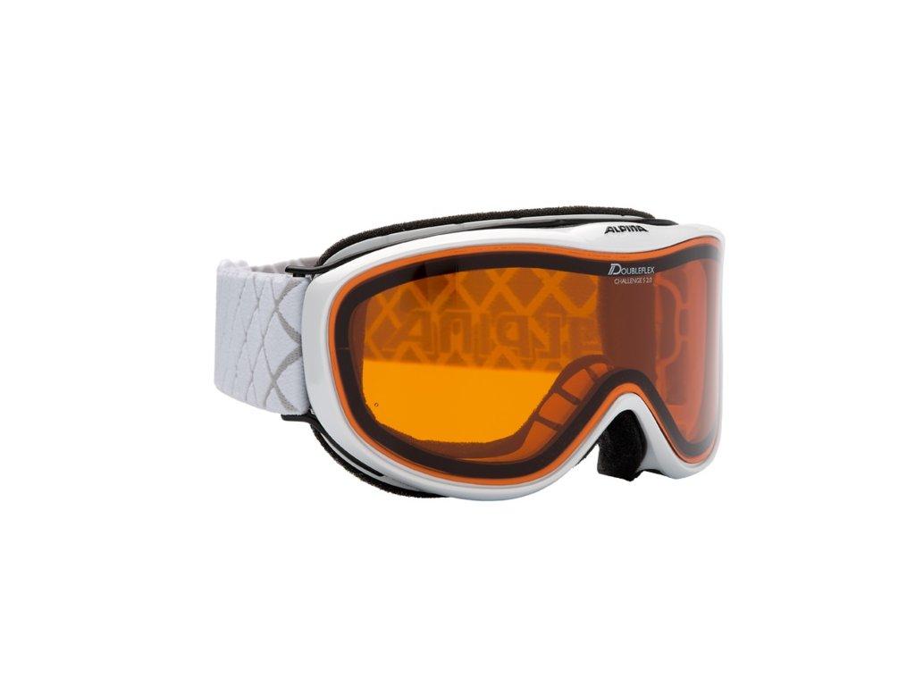 ALPINA - okuliare L A CHALLENGE S 2.0 D DLH white (Velikost TU)