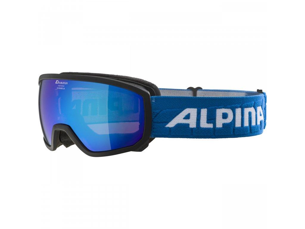 ALPINA - okuliare L SCARABEO JR MM 18/19 black/ blue sphere (Velikost UNI)