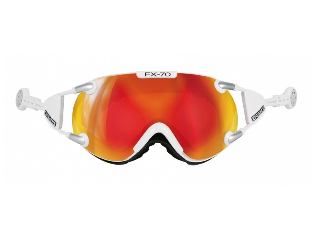 CASCO - okuliare L FX70 CARBONIC white/orange (Velikost M)