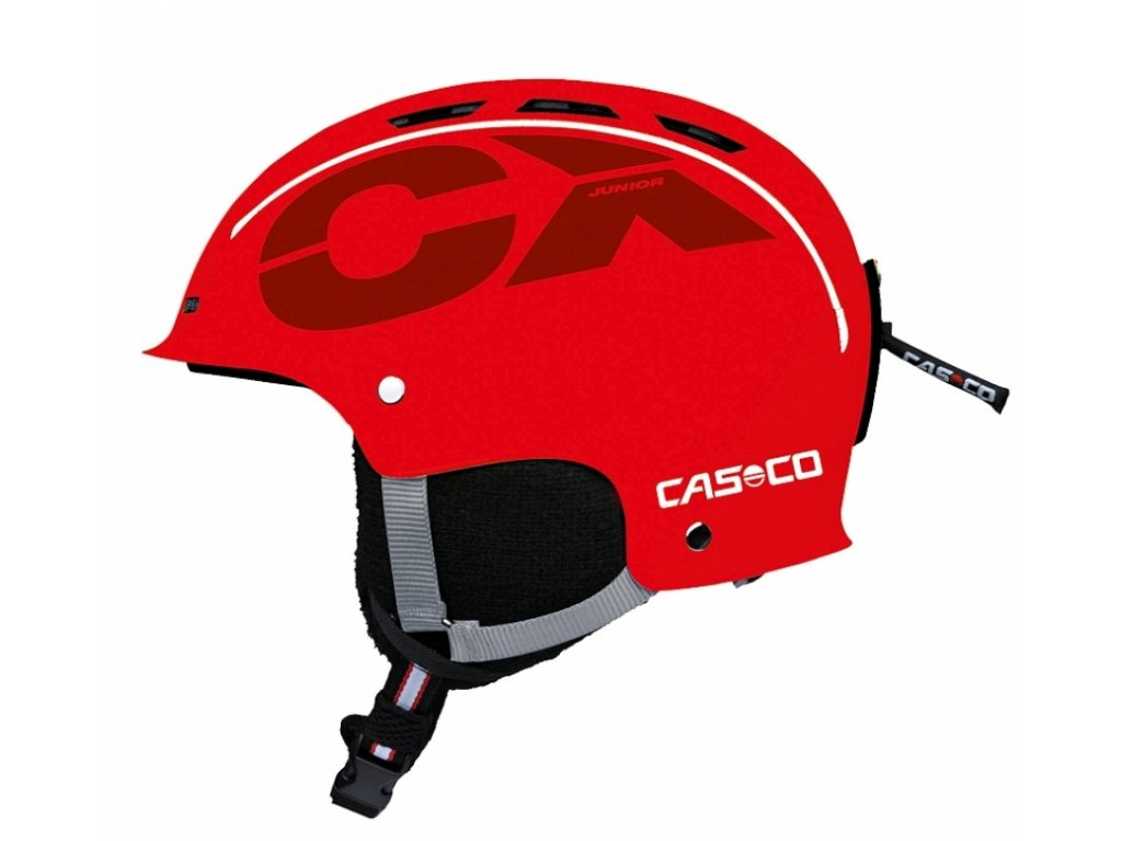 CASCO - prilba CX-3 JUNIOR red 18/19 (Velikost 50-56)