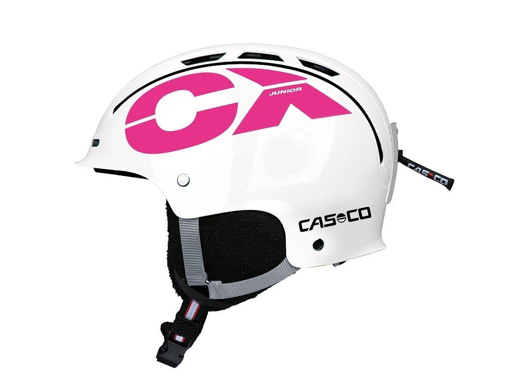 CASCO - prilba CX-3 JUNIOR white pink 18/19 (Velikost 50-56)