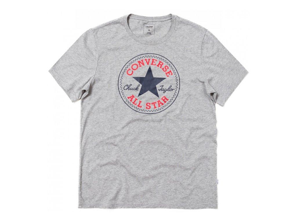 CONVERSE - tričko KR CORE CHUCK PATCH TEE grey (Velikost L)