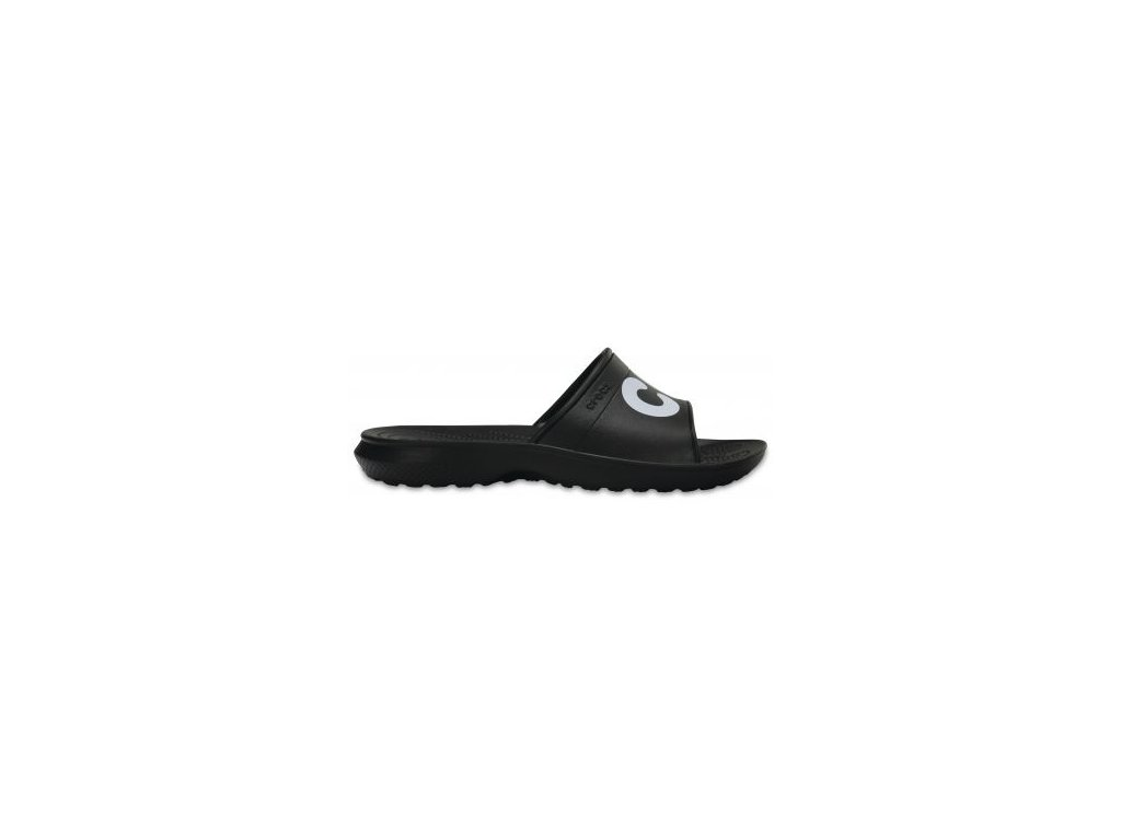 CROCS - šľapky CLASSIC GRAPHIC SLIDE Black/White (Velikost 38-39)