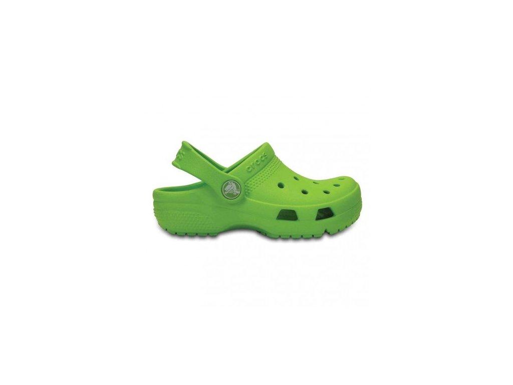 CROCS - šlapky COAST CLOG K volt green (Velikost 23-24)