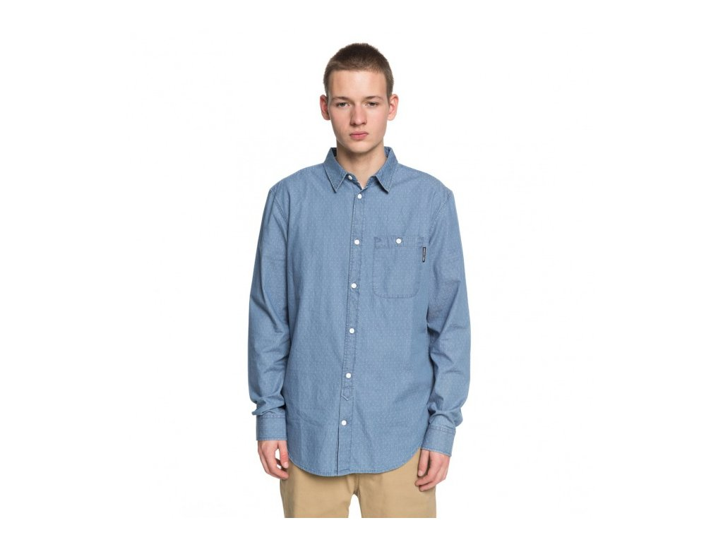 DC - košeľa DR SWALENDALEN 2 LS LIGHT BLUE (Velikost L)