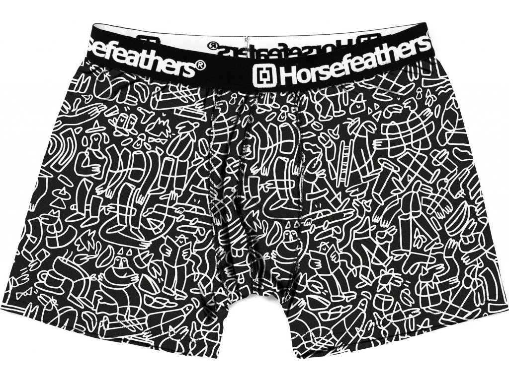 HORSEFEATHERS - boxerky SIDNEY BOXER SHORTS doodle (Velikost L)