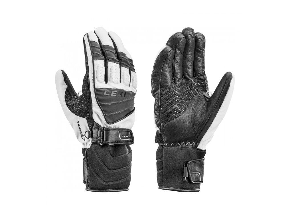 LEKI - rukavice Griffin S white/grey/black (Velikost 10)