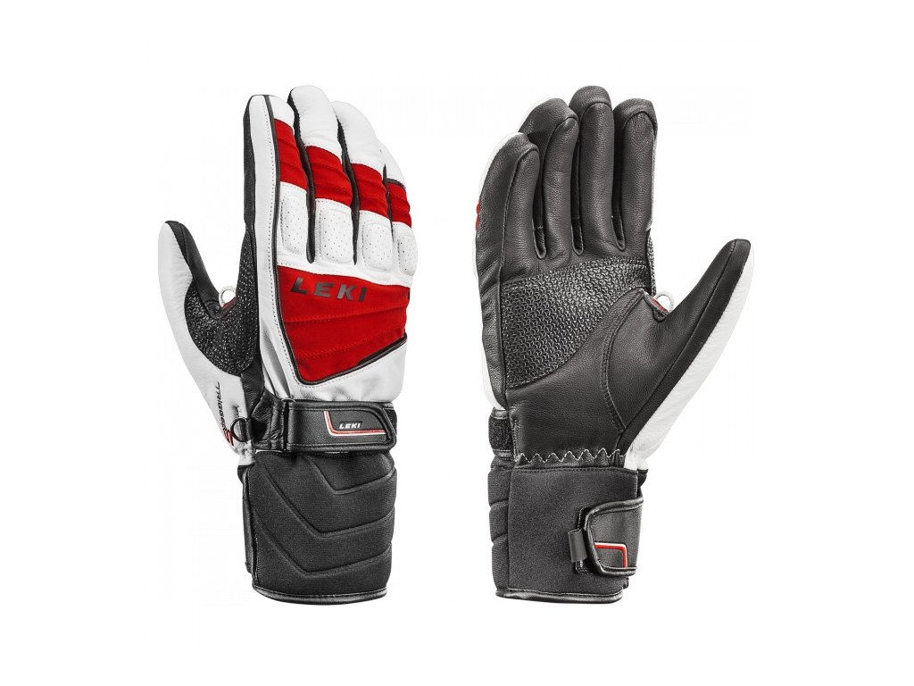 LEKI - rukavice Griffin S white/red/black (Velikost 10.5)