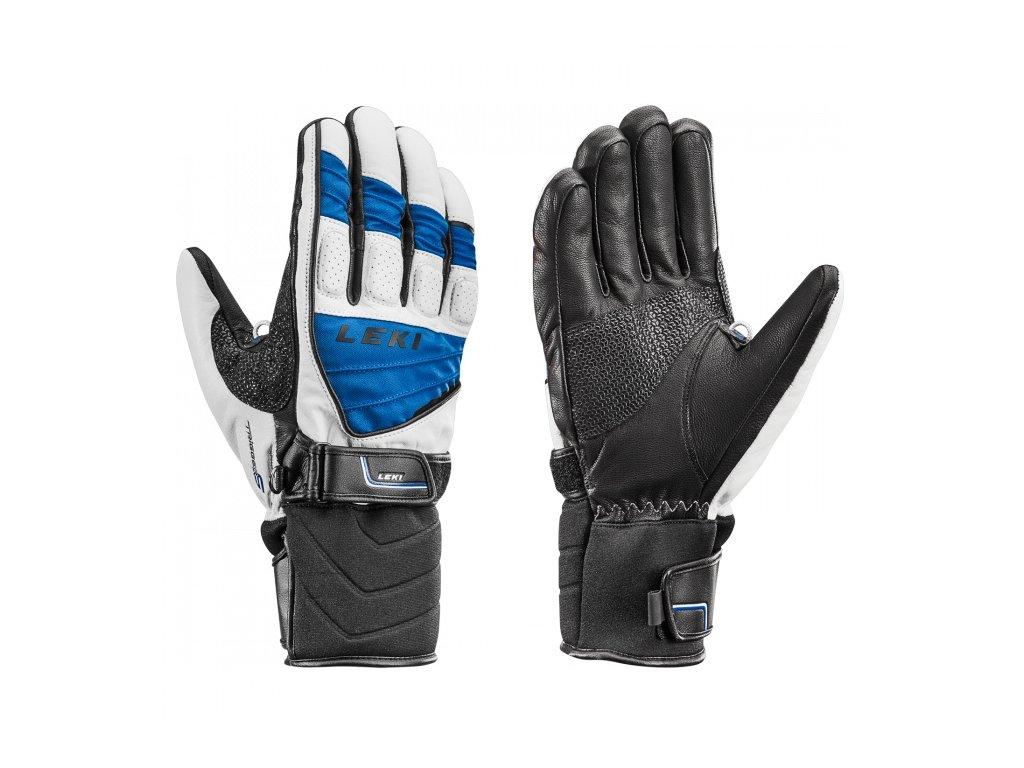 LEKI - rukavice Griffin S white/royal/black (Velikost 10)