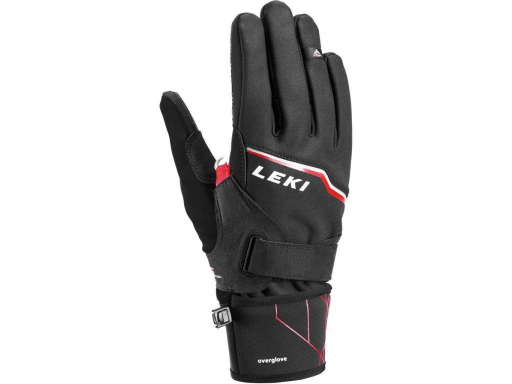 LEKI - rukavice Tour Vision V Plus black/red/grey (Velikost 7.5)