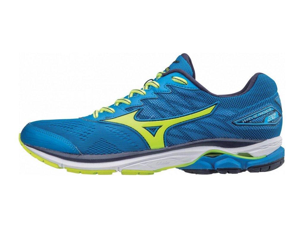 MIZUNO - obuv RUN WAVE RIDER 20 blue/yellow/peach (Velikost 40.5)