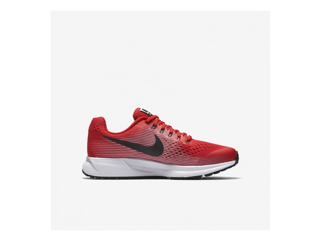 NIKE - obuv RUN Zoom Pegasus 34 (GS) Running Shoe red (Velikost 5.5Y)