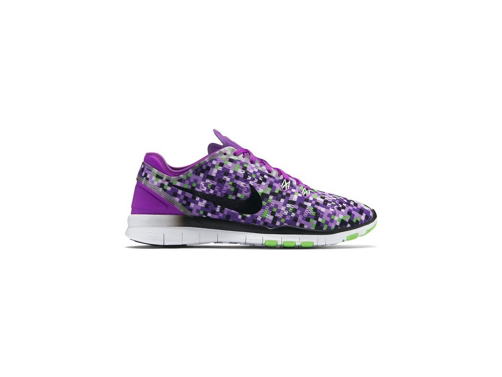 NIKE - obuv TR Nike Free 5.0 TR Fit 5 Print purple violet/black (Velikost 6)