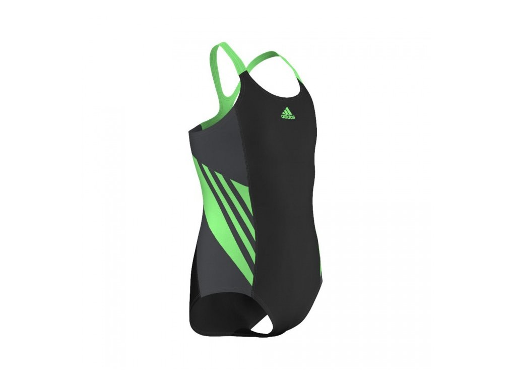 ADIDAS - plavky I INS 1PC G          black/green (Velikost 116)