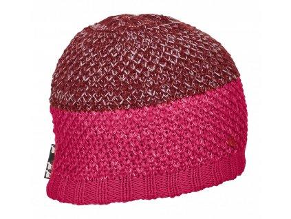 Ortovox - čepice Crochet Beanie neon hot coral