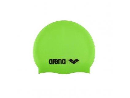 juniorska plavecka ciapka arena clasic silicone jr acid limetkova cerna[1]