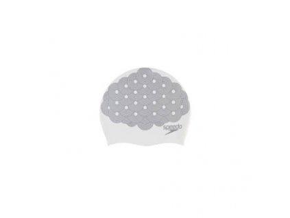 speedo long hair cap printed b968 whitejade[1]