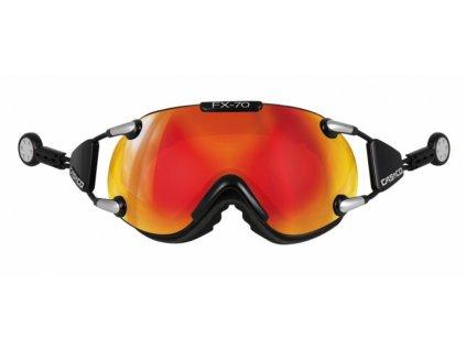 CASCO - okuliare L FX70 CARBONIC black/orange (Velikost L)