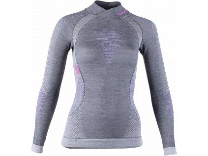 UYN tričko Uyn Lady Fusyon UW Shirt LG_SL.Turtleneck grey (Velikost L-XL)