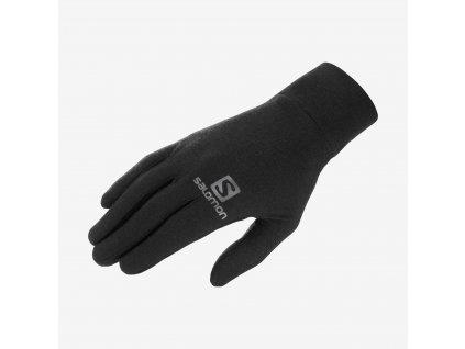 Salomon rukavice Mtn Wool Base Glove U black