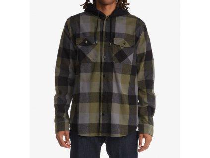 DC košeľa Ruckus Hooded Flannel ivy green