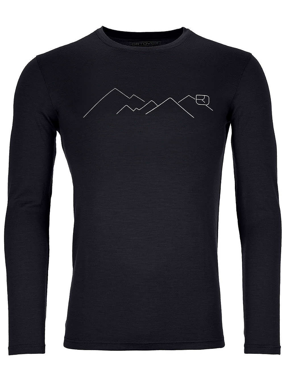 Ortovox - tričko T 185 Merino Mountain LS black raven Velikost: XL