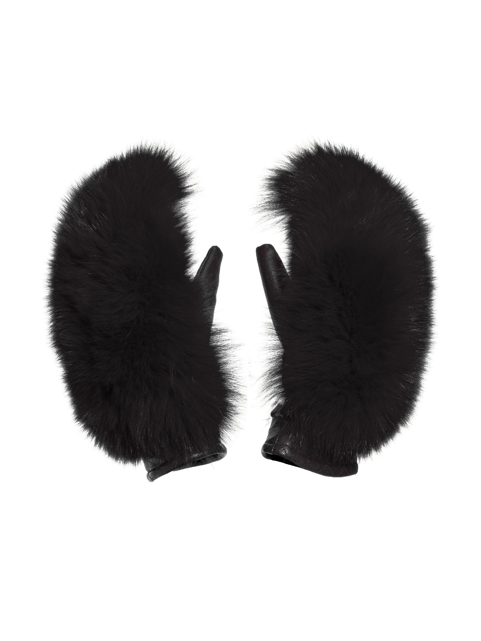 Goldbergh rukavice Hill Mittens Faux Fur black Velikost: 6.5