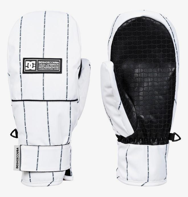 DC - rukavice L FRANCHISE white logo pin stripe Velikost: L