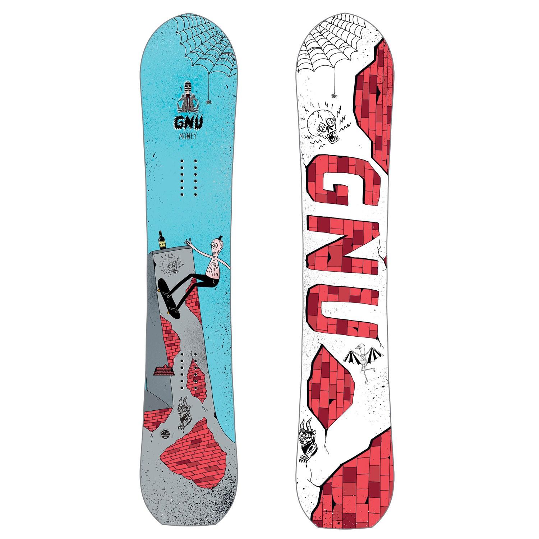GNU - snowboard Money C2E blue/red 18/19 Velikost: 156