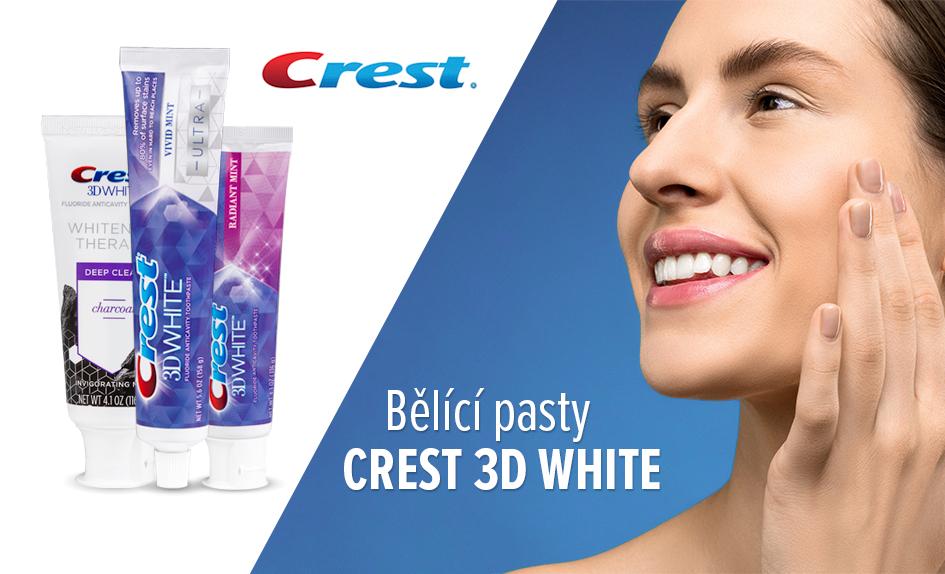 bělící pasty Crest 3D White